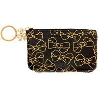 Claire's Golden Bow Coin Purse - Black - Purse Gifts