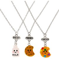 Claire's Best Friends Milk & Cookies Pendant Necklaces - 3 Pack - Cookies Gifts