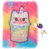 Claire's Cattuccino The Sweetimal Rainbow Soft Lock Diary - Rainbow Gifts