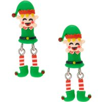 Claire's Moving Elf Front And Back Drop Earrings - Elf Gifts