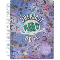 Claire's Unicorn Pwr Diary - Purple - Diary Gifts