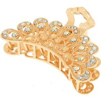Claire's Gold Filigree Iridescent Stone Hair Claw - Hair Gifts