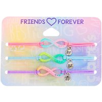 Claire's Glitter Pastel Infinity Adjustable Friendship Bracelets- 3 Pack - Friendship Gifts