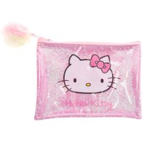 Claire's Hello Kitty Glitter Pencil Case - Pink/silver - Hello Kitty Gifts