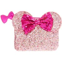 Claire's Disney Minnie Mouse Ears Glitter Coin Purse- Pink - Purse Gifts
