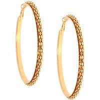 Claire's Gold 80MM Mesh Hoop Earrings - Earrings Gifts