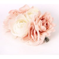 Claire's Bouquet Of Flowers Hair Clip - Blush Pink - Flowers Gifts