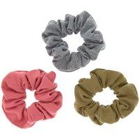 Claire's Fall Neutral Hair Scrunchies - 3 Pack - Hair Gifts