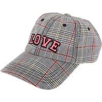 Claire's Love Plaid Baseball Cap - Pink - Baseball Gifts