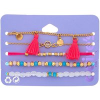Claire's Gold Bright Summer Charm Bracelets - 5 Pack - Charm Gifts