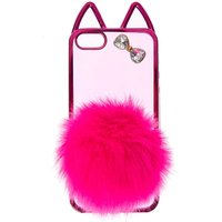 Claire's Hot Pink Cat With Pom Tail Phone Case - Phone Gifts