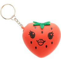 Claire's Dottie The Strawberry Squishy Ball Keyring - Strawberry Gifts