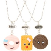 Claire's 3 Pack Candy Best Friends Forever Necklace Set - Candy Gifts