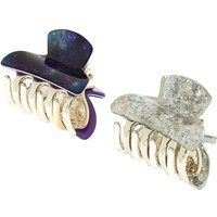 Claire's Space Galaxy Hair Claws - 2 Pack - Space Gifts