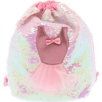 Claire's Club Sequin Ballet Drawstring Bag - Pink - Ballet Gifts