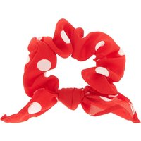 Claire's Polka Dot Knotted Bow Hair Scrunchie - Red - Polka Dot Gifts
