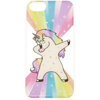 Claire's Rainbow Rock Star Dabbing Unicorn Phone Case - Phone Case Gifts