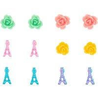 Claire's Pastel Paris Stud Earrings - 6 Pack - Paris Gifts