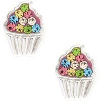 Claire's Sterling Silver Pastel Cupcake Earrings - Cupcake Gifts