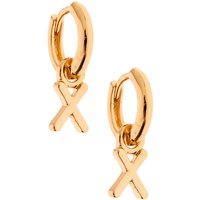Claire's Gold 10MM Initial Huggie Hoop Earrings - X - Jewellery Gifts