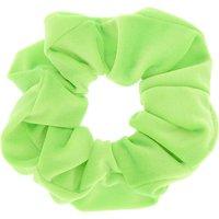 Claire's Medium Velvet Hair Scrunchie - Neon Green - Neon Gifts