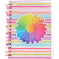 Claire's Striped Daisy Pencil Case Journal Set - Rainbow - Pencil Case Gifts