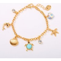 Claire's Gold Under The Sea Charm Bracelet - Mint - Fashion Gifts