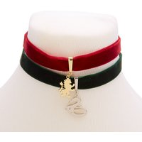 Claire's Harry Potter™ Gryffindor And Slytherin Velvet Choker - Claires Gifts