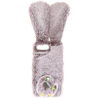 Claire's Grey Faux Fur Bunny Phone Case - Fits Iphone 6/7/8/se - Phone Gifts