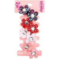 Claire's Club Floral Gem Hair Ties - 4 Pack - Ties Gifts