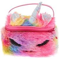 Claire's Furry Rainbow Unicorn Makeup Bag - Bag Gifts