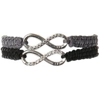 Claire's Infinity Adjustable Friendship Bracelets - Grey, 2 Pack - Friendship Gifts