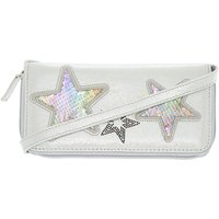 Claire's Reversible Sequin Rainbow Star Crossbody Wallet - Silver - Wallet Gifts