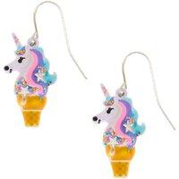 Claire's Unicorn Ice Cream Cone Drop Earrings - Ice Cream Gifts