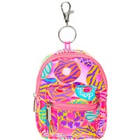 Claire's Neon Animal Donut Print Mini Backpack Keychain - Pink - Animal Gifts