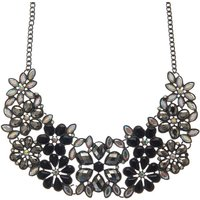 Claire's Black Floral Statement Necklace - Floral Gifts