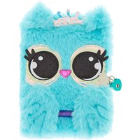 Claire's Luna The Owl Lock Plush Diary - Mint - Mint Gifts