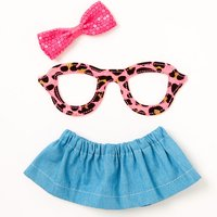 Claire's Leopard Glasses & Skirt Dress Your Diary Set - 3 Pack - Diary Gifts