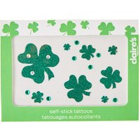 Claire's St. Patrick's Day Self-Stick Shamrock Tattoos - Tattoos Gifts