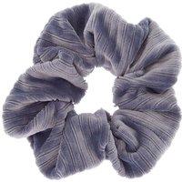 Claire's Medium Ribbed Velvet Hair Scrunchie - Blue Bracelet - Hair Gifts