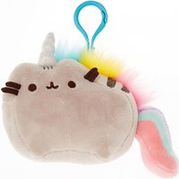 Claire's Pusheen Unicorn Plush Keyring - Grey - Soft Toy Gifts