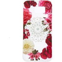 Claire's Floral Bling Mandala Protective Phone Case - Fits Samsung Galaxy S7 Edge - Bling Gifts