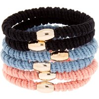 Claire's Dusty Ribbed Hair Ties - 6 Pack - Ties Gifts
