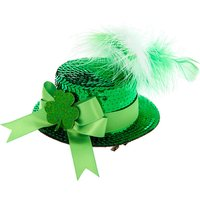 Claire's Sequin Irish Hat Fascinator - Green - Hat Gifts