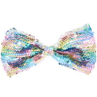 Claire's Pastel Rainbow Reversible Sequin Hair Bow - Hair Gifts