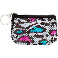 Claire's Neon Leopard Reversible Sequin Coin Purse - Purse Gifts