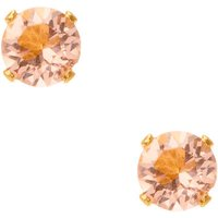 Claire's 18Kt Gold Plated Peach Faux Crystal Stud Earrings - Earrings Gifts