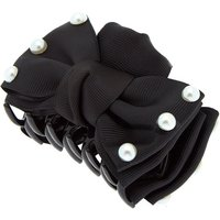 Claire's Pearl Bow Hair Claw - Black - Hair Gifts
