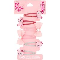 Claire's Club Avery The Cat Snap Hair Clips - Pink, 6 Pack - Cat Gifts