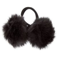 Claire's Pom Pom Hair Ties - Black, 2 Pack - Ties Gifts
